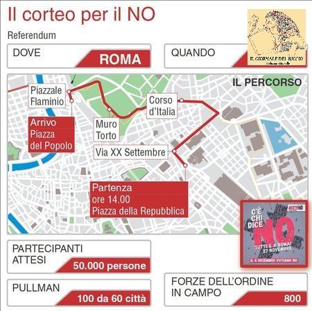 Referendum: domani corteo per 'no', Roma blindata