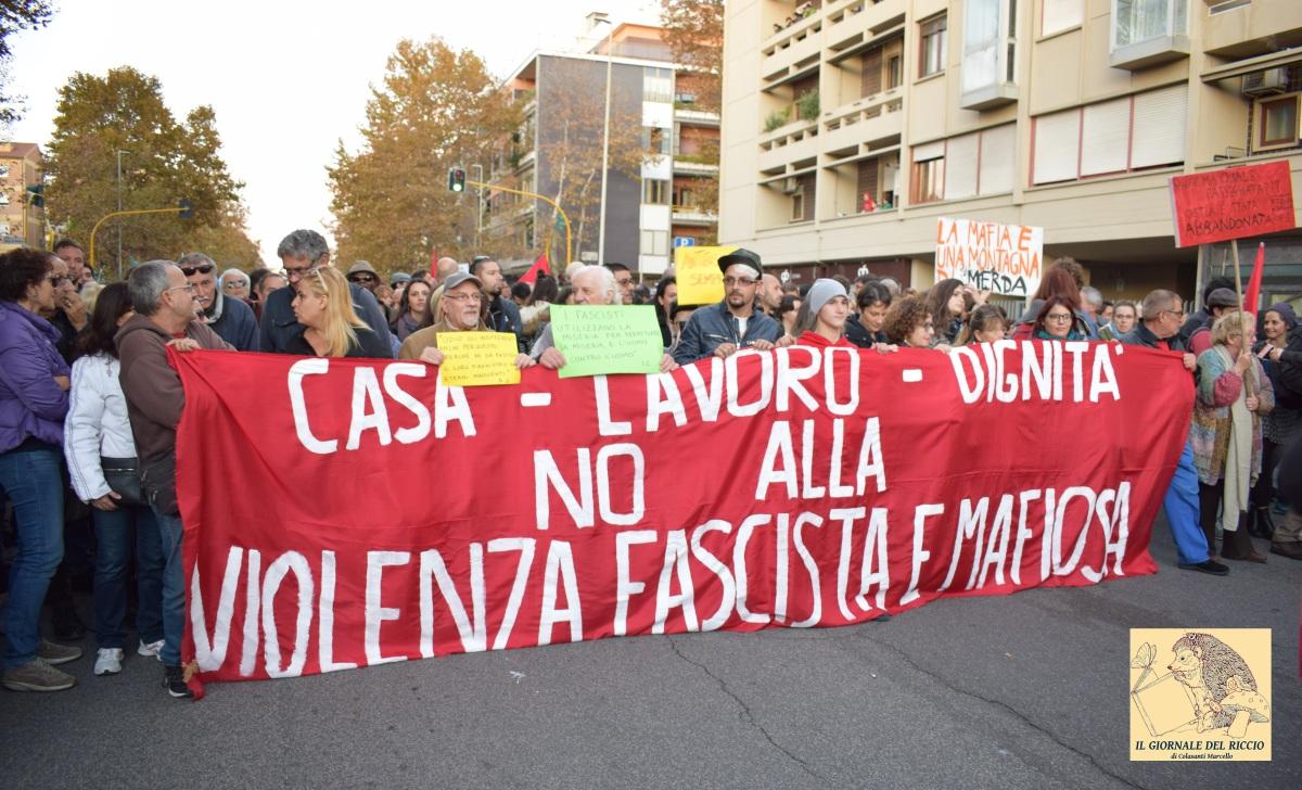 Ostia - Manifestazione contro il fascismo e la mafia - 11/11/2017. Tutti gli interventi finali in foto e video.