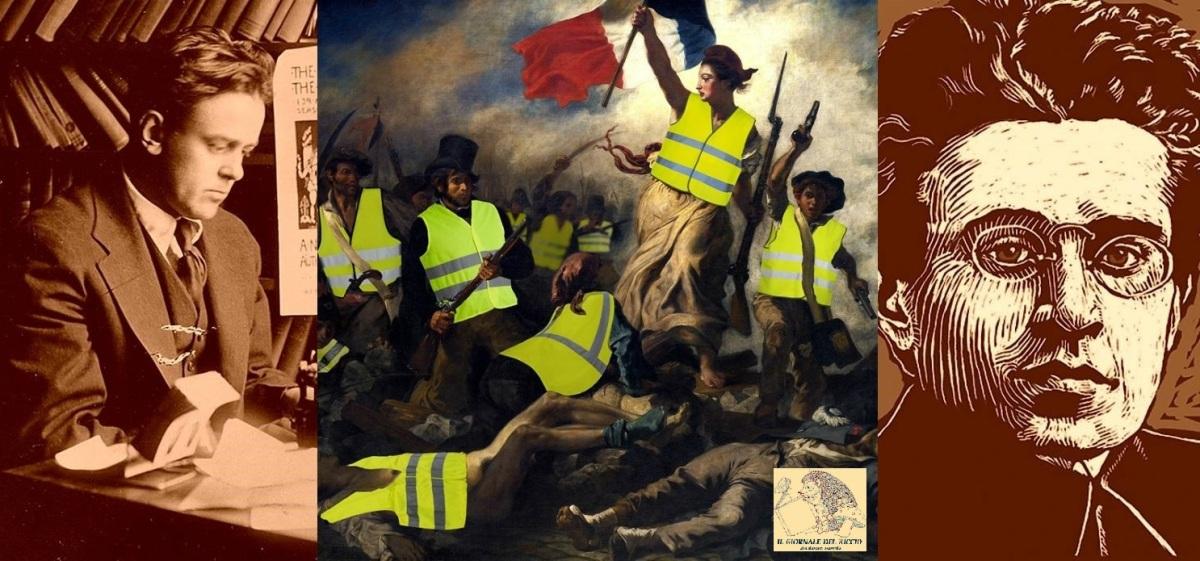 10° settimana di proteste in Francia. Una riflessione sui Gilets Jaunes con Antonio Gramsci e John Reed.